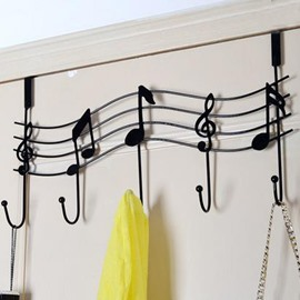 Fantastic and Simple European Style Iron Creative Musical Note Wall Hook