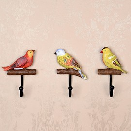 Elegant and Delicay Birds Design 1-Set Resin Wall Hooks