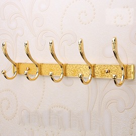 Simple Golden Stainless Wall Hooks for Room Decoration