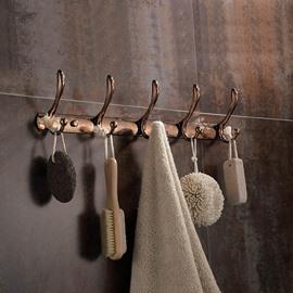 Classic Alloy Flower Pattern Kitchen or Wardrobe Decoration Wall Hooks