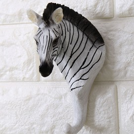 Creative Design Resin Zebra Shape Home Decorative Wall Hooks