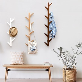 Creative Branch Shape Wood Material Clothes Tree Wall Art Hook Decor