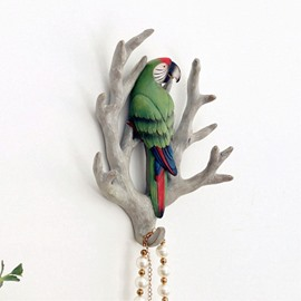 4 Pattern Environment Friendly Resin Bird Branch Design Decorative Wall Hooks