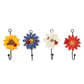 Beautiful Warm Flowers Resin Hook Eco-friendly Colorful African Chrysanthemum Hook