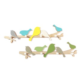 Delicate Birds Multi-Colors Design 1-Set Resin Wall Hooks