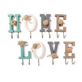 Love And Home Letters Colorful Decorative Wall Hook