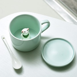 Cute 3D Animal Cartoon Ceramics Cup