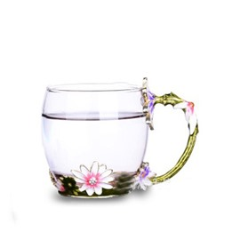 Modern and Elegant Retro Coffee Cups with White Flowers Home Tea Cup Sets