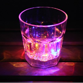 Cool Dazzle Colorful LED luminous cocktail acrylic glass/Party Cup