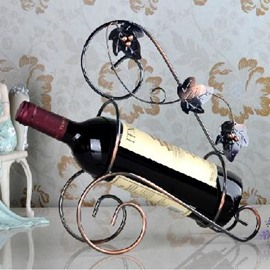 New Arrival Fashional Flower Vine Wrought Iron Wine Rack