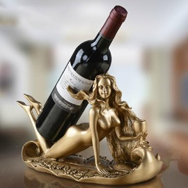 Wonderful Young Slim Beauty Art Design Wine Rack