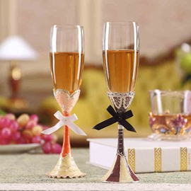 Simple Crystal Wine Glasses for Home Decoration