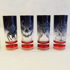 Creative Plastic 4 Patterns Halloween Decoration Wine Glasses