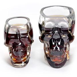 Transparent Glass Skull Shape Halloween Decoration Wine Glasses