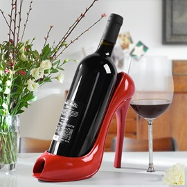 Modern Fashion High-heeled Shoe Design Resin Home Decorative Wine Rack