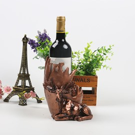 Fabulous Resin Sika Deer Design European Style Decorative Wine Rack