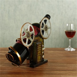 Metal Home Decoration Retro Camera Delicate and Creative Birthday Gift Wine Rack