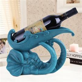 Navy Blue Creative Resin Lovely Elephant Red Wine Holder