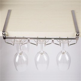 Stainless Steel Modern and Concise Creative Hanging Cup Red Wine Rack