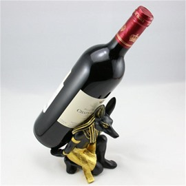 Retro and Modern Style Egypt Anubis Design Resin Home Decorative Wine Rack