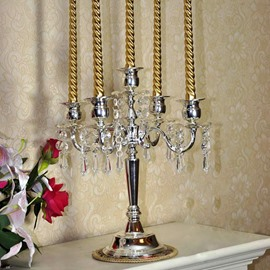 Five-Head Candle Holders with Pendant Jewelry