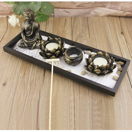 New Arrival Chinese Zen Buddha Sand Table Incense Burner Candle Holder
