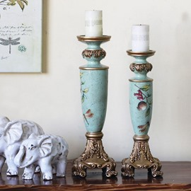 French Country Style Painting Candle Holder