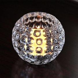 Simple Ice Hockey Shape Crystal Glass Candle Holder