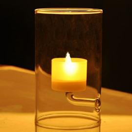 European Style Elegant Transparant Glass Candle Holder