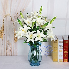 Lily PU 1 Piece Home Decorative Artificial Flower