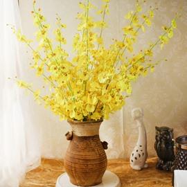 Orchid Silk Velvet Bright European Style Artificial Flowers