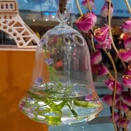 Fantastic Creative Bell Shape Glass Vase