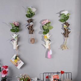 Simple Style Resin Birds on the Tree Shape Wall Decor Flower Vase