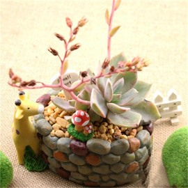 Creative and Elegant Cobblestone Imitation Lovely Giraffe Resin Succulent Pots