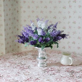 New Arrival Lovely Lavender Blossoms in Vase Decorative Artificial Flower Set