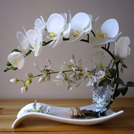 Phalaenopsis Polyurethane Home Decorative Artificial Flower Set