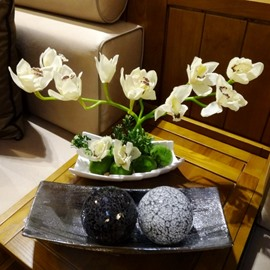 Realistic Modern Design Artificial Cymbidium Home Decorative Flower Sets