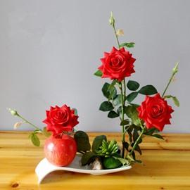 Vivid Artificial Romantic Roses European Style Decorative Flower Sets