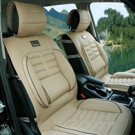 Luxurious Business Styled With Comfort Side Cushions Leather Universal Car Seat Covers