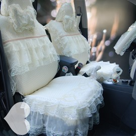 Princess Themed Fashion Design With Laces Universal Fit Car Seat Cover