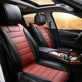 Car Seat Covers Wear-resistant Leather Classic Design Contrast Color Sport Styled Universal Car Seat Cover( Ford Mustang and Chevrolet Camaro are Not Suitable)