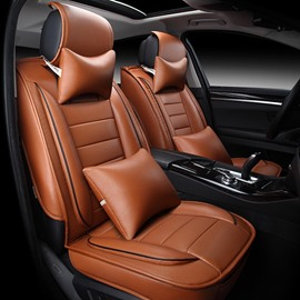 Only One Left in stock Leather Car Seat Covers Leatherette Automotive Vehicle Cushion Cover for Cars SUV Pick-up Truck Universal Vehicle Cushion Cover Waterproof Protectors