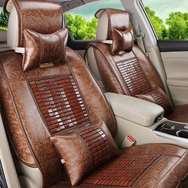 Cool And Health Care Bamboo Chip Leather Car Seat Covers