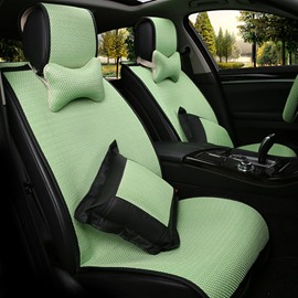 Casual Style Comfortable Design Bright Multi-Color Models Ice Silk Universal Car Seat Covers