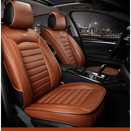 Luxurious Business Style Man-Made Leather Classic Design Universal Car Seat Cover 5 Seats Unfading Firmer Wear-Resistant And Waterproof