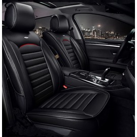 Luxurious Business Style Man-Made Leather Classic Design Universal Car Seat Cover 5 Seats Unfading Firmer Wear-Resistant And Waterproof( Ford Mustang and Chevrolet Camaro are Not Suitable)