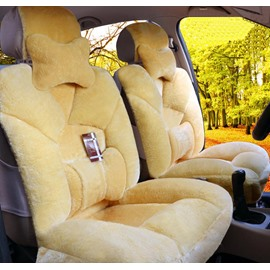 5 Seats Extremely Comfy Soft Lambswool Material Design Universal Car Seat Covers