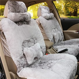 Soft And Comfortable Plush Material With Cushions Universal Car Seat Covers