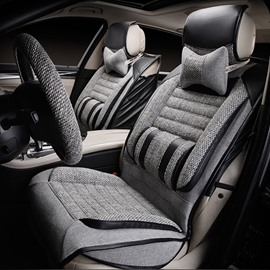 Casual Business Style Designed For Comfort Breathable Linen Universal Car Seat Covers