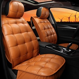 Elegant Square Patterned Sofa Design Maximum Comfrot Pure Colored Universal Car Seat Covers
